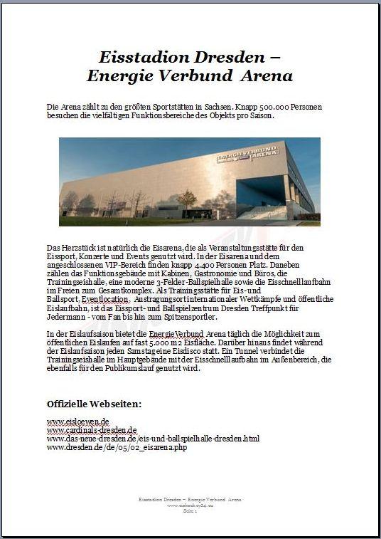 Eisstadion Dresden - Energie Verbund Arena